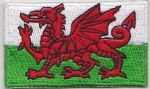 Wales Embroidered Flag Patch, style 04.
